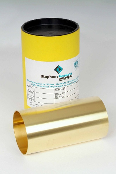brass shim in a can