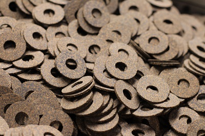 A pile of cork washers